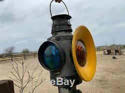 Vintage Handlan St Louis Railroad Caboose Signal Lantern / Train Light