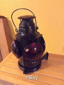 Vintage Handlan St. Louis USA Railroad Caboose 4-way Oil Lantern