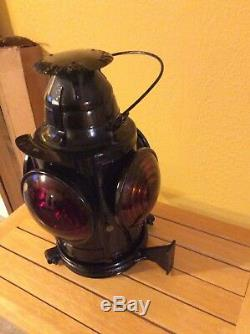 Vintage Handlan St. Louis USA Railroad Oil Coach/Caboose Lantern Very Nice