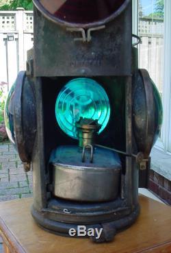 Vintage Hiram L. Piper Railroad CPR Caboose Switch Lantern