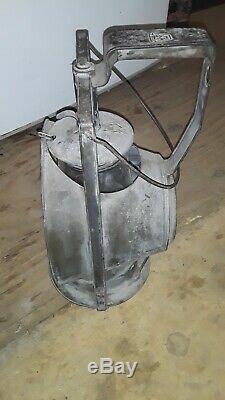 Vintage INSPECTORS LANTERN Kerosene DIETZ Acme Lamp NY 1900s Antique RAILROAD