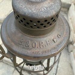 Vintage Keystone B & O RR The Casey Railroad Lantern 5 3/8 Globe B & O LOCO