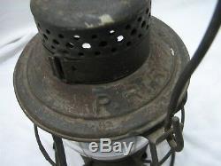 Vintage Keystone The Casey PRR Railroad Train Lantern Kerosene Lamp Light RR