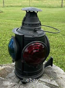 Vintage Large Arlington NJ Dressel 4 way Railroad Signal Lamp Lantern