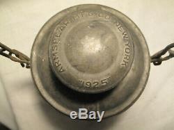 Vintage Norfolk & Western Railroad Lantern N&w Ry Crx Red Globe Armspear 1925