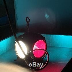 Vintage Pyle National Railroad Lantern Switch Marker Signal Train Caboose Light