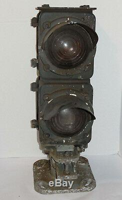 Vintage Railroad Dwarf Signal! Safetran Systems Corp! Red/amber! Train Lights
