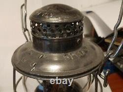 Vintage Railroad Lantern Adlake, SP CO, with Burner & Globe