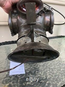 Vintage Railroad Lantern Armspear Caboose Marker 28A & Bracket New York