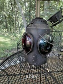 Vintage Railroad Lantern CNR PIPER MONTREAL Switch Stand Signal Lamp