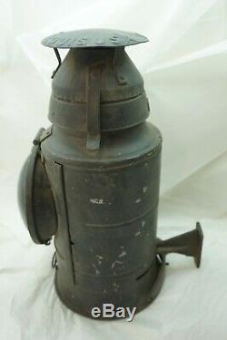 Vintage Railroad Lantern Prr Pennsylvania Rr Handlan Signal 1 Red Lens Caboose