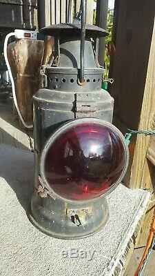 Vintage Railroad Signal Lantern. Adlake Lamp Chicago. R. F. & P