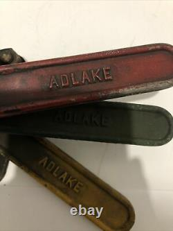 Vintage Railroad Switch Signal Adlake Glass Lenses RED, YELLOW, BLUE Read More