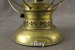Vintage Railroad Train Conductor Presentation Brass Lantern CT Ham 39 B Toddy