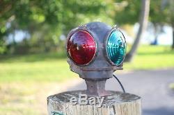 Vintage Railroad Train Crossing Light Adlake Cannonball
