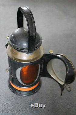 Vintage Railway Lamp Red, Orange and Blue Lense GWR 1927