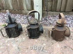 Vintage Railway Lamps. British Railways. BR. SET OF 3