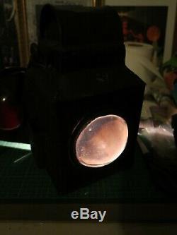 Vintage Railway Lantern, Railroad Lamp, Double glass, Antique, Collectable