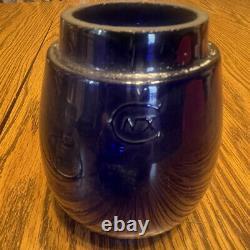 Vintage Reading Railroad Lantern with Corning Cobalt Blue Globe Dietz Vesta