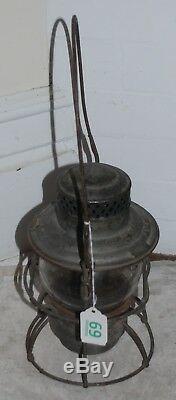 Vintage Rock Island Railroad Lantern Adlake Kero Adams Westlake