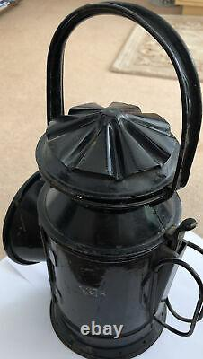 Vintage S(E)R BRITISH RAIL Hand Signal Oil Lamp Railway Lantern