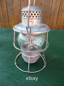 Vintage Train Railroad Lantern C&O Glass Globe Chesapeake & Ohio Railway