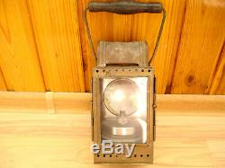 Vtg Post Wwii German Heinrich Gillet Brass Carbide Railroad Lantern Signal Lamp