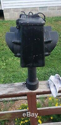 Vtg Railroad Signal Red & Green Double Sided Signal Light General Railway NY