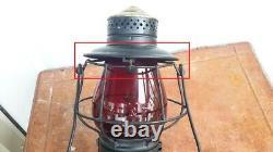 Wabash, St. Louis & Pacific Railway Rail Road Lantern. Red Globe Embossed. RARE