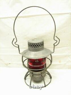 Washington Terminal Co Traction Dressel Railroad Train Lantern Red Globe Lamp